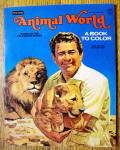 Click here to enlarge image and see more about item 15408: Animal World Coloring Book 1977 (Cut Out On Back Cover)