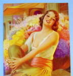 Click to view larger image of 1930's Who'll Buy My Flowers Colortype Picture (Image2)