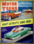 Click to view larger image of Motor Trend Magazine August 1955 Detroit Cars Need (Image1)