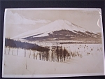 Click here to enlarge image and see more about item 1579: Vintage Photo - 1946 Mount Fuji in Winter