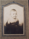Click here to enlarge image and see more about item 1593: Vintage Photo - WW I Era Baby in Scarf
