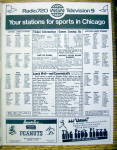 Click to view larger image of Chicago Cubs vs. Atlanta Braves Scorecard August 1973 (Image8)