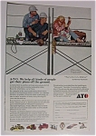 Click here to enlarge image and see more about item 1594: Norman Rockwell 1972  A-T-O  Ad