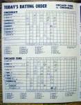 Click to view larger image of Chicago Cubs vs. Cincinnati Scorecard/Program 1952 (Image4)