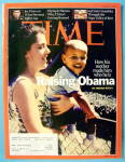 Click to view larger image of Time Magazine April 21, 2008 Raising Obama (Image1)