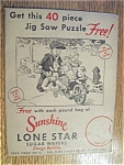 Click here to enlarge image and see more about item 1605: Vintage Ads - 1930's Sunshine Lone Star Wafer Puzzle