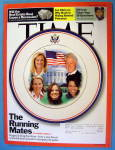 Click to view larger image of Time Magazine September 24, 2007 The Running Mates (Image1)
