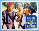Click here to enlarge image and see more about item 16133: The Bandit Of Zhobe Lobby Card 1958 Victor Mature