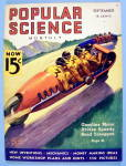 Popular Science Magazine September 1936 Road Toboggan