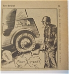 Click here to enlarge image and see more about item 1616: Political Cartoon - June 1, 1943 War Effort - Let Down
