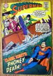 Click here to enlarge image and see more about item 16233: Superman Comic #210 October 1968 Clark Kent's Last Rite