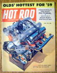 Click here to enlarge image and see more about item 16266: Hot Rod Magazine June 1959 Stick Shift Installation