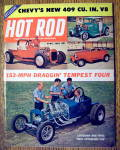 Hot Rod Magazine April 1961 Chevy's New 409 CU. IN. V8
