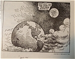 Click here to enlarge image and see more about item 1629: Political Cartoon - February 11, 1946 The Moon Comments