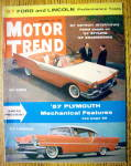 Motor Trend Magazine November 1956 1957 Plymouth