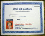 Click here to enlarge image and see more about item 16591: A Date In Time $75 Gift Certificate