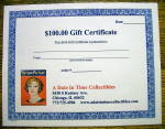 Click here to enlarge image and see more about item 16592: A Date In Time $100 Gift Certificate