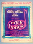 Milk And Honey Sheet Music Booklet 1961 Vocal Selection