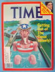 Click to view larger image of Time Magazine August 22, 1977 Getting Out Of The Canal (Image1)