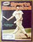 Click to view larger image of Sport Illustrated Magazine July 15-22, 2002 Ted William (Image1)