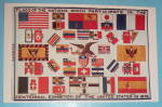 Click here to enlarge image and see more about item 17732: Flags Of The Nations Postcard