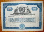 Click to view larger image of 1928 National Electric Power Company Stock Certificate (Image2)
