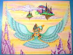 """Click here to enlarge image and see more about item 18421: """"Sky Born"""" - Original Nude Fantasy Drawing"""