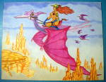 """Click here to enlarge image and see more about item 18422: """"Wing Ryders"""" - Original Nude Fantasy Drawing"""
