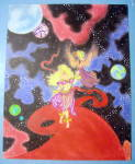 """Click here to enlarge image and see more about item 18424: """"She The Star Treader"""" - Orig Nude Fantasy"""