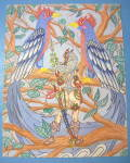 Click to view larger image of Birds Of Paradise - Original Nude Fantasy Drawing (Image1)