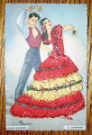 Click to view larger image of Ballet Espanol Postcard-Fabric Overlay-4. Soleares (Image1)