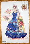 Click to view larger image of Espana Postcard-Fabric Overlay-Lovely Senorita (Image2)