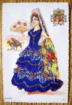 Click to view larger image of Espana Postcard-Fabric Overlay-Lovely Senorita (Image3)