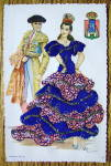 Click to view larger image of Andalucia Postcard-Fabric Overlay-Spanish Woman & Man (Image3)