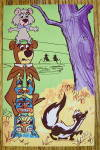 Click to view larger image of Yogi Bear & Boo Boo with Totem Pole Postcard (Image2)