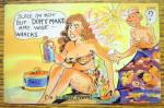 Woman With Sunburn Postcard