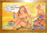 Click to view larger image of Woman With Sunburn Postcard (Image2)