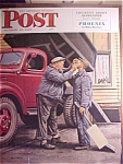 Click here to enlarge image and see more about item 1930-001063: Saturday Evening Post Cover By Dohanos October 18, 1947