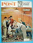 Click here to enlarge image and see more about item 1930-001116: Norman Rockwell Sat Eve Post Cover February 14, 1959