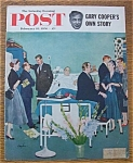 Click here to enlarge image and see more about item 1930-001956: Saturday Evening Post Cover By Hughes - Feb 18, 1956