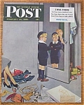 Click here to enlarge image and see more about item 1930-001964: Saturday Evening Post Cover By Hughes - Feb 25, 1950