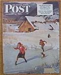 Click here to enlarge image and see more about item 1930-001978: Saturday Evening Post Cover By Clymer - Dec 30, 1950