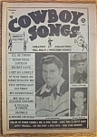Click here to enlarge image and see more about item 1930-002051: Cowboy Songs Magazine - Slim Whitman - July 1954