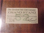 Click here to enlarge image and see more about item 1930-002: 1915 Cleveland Baseball Club Ticket Stub