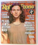 Click to view larger image of Rolling Stone Magazine November 28, 1996 Eddie Vedder (Image1)