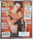 Click here to enlarge image and see more about item 20762: Rolling Stone Magazine October 17, 2002 Keith Richards