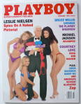 Click to view larger image of Playboy Magazine-February 1996-Leslie Nielsen  (Image2)