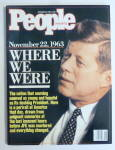 Click to view larger image of People Magazine November 28, 1988 Where We Were (Image1)