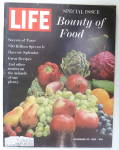 Life Magazine-November 23, 1962-Bounty Of Food