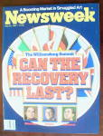 Click to view larger image of Newsweek Magazine-May 30, 1983-Can Recovery Last? (Image2)